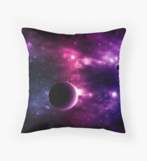 Best Galaxy background. Cosmic. Throw Pillow