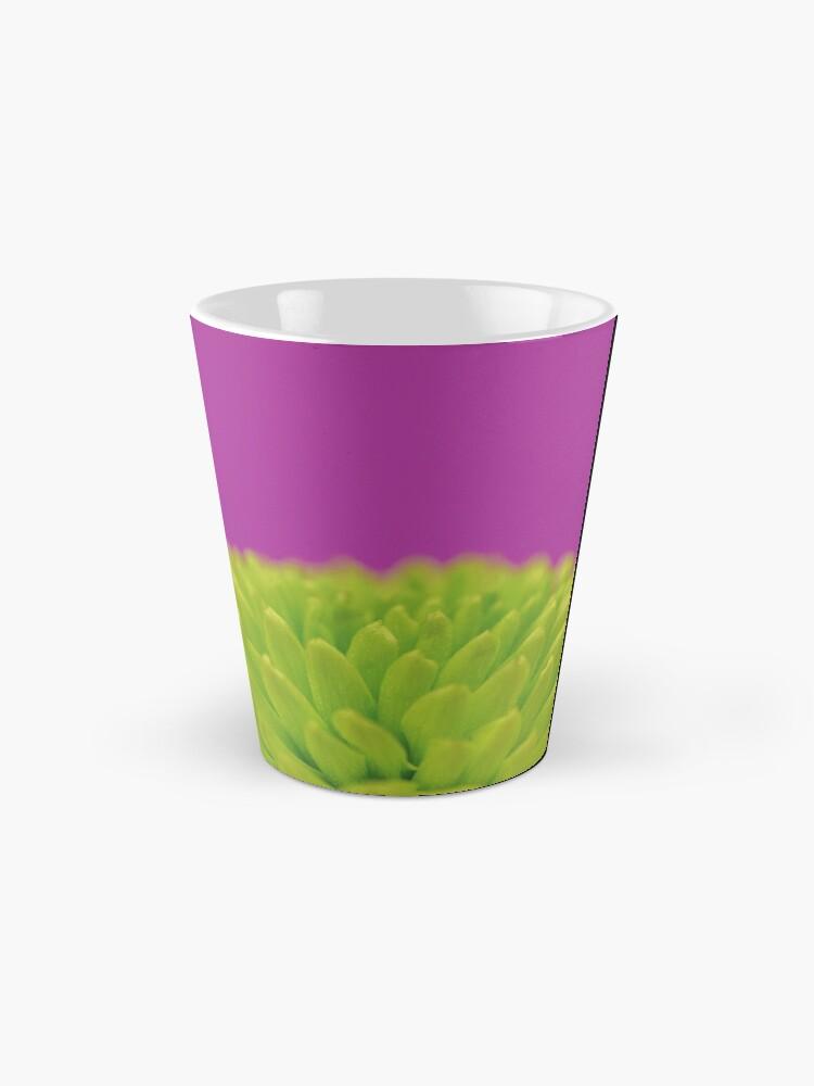 Alternate view of Green Button Spray Chrysanthemum Mug