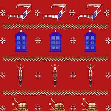 MERRY WHOVIAN CHRISTMAS by karmadesigner
