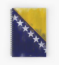 Bosnia And Herzegovina Flag Reworked No. 1, Series 2 Spiralblock