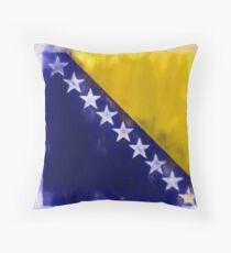 Bosnia And Herzegovina Flag Reworked No. 2, Series 1 Kissen