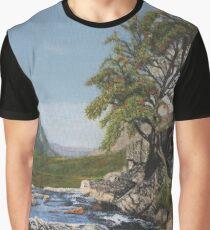 River Coe Scotland Oil on Canvas Graphic T-Shirt