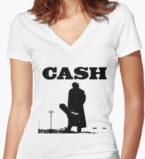 cash Women's Fitted V-Neck T-Shirt