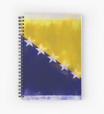 Bosnia And Herzegovina Flag Reworked No. 66, Series 1 Spiralblock
