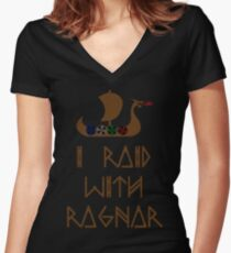 Camiseta entallada de cuello en V I Raid con Ragnar
