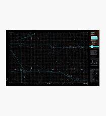 USGS TOPO Map Kansas KS Oakley 801622 1985 100000 Inverted Photographic Print