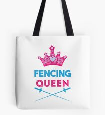 Fencing Queen Fencer Design Tote Bag