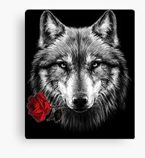 Wolf Rose Canvas Print