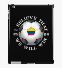 Colombia Soccer Team We Will Win 2018 Cup Futbol In Russia Tshirt iPad Case/Skin