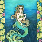 Waterlily Mermaid - Copic Marker Art by Ashley Van Dyken