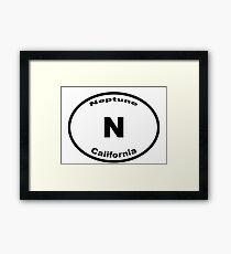 Neptune, CA - Europlate Framed Print