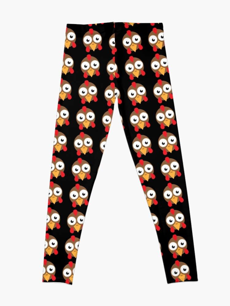 Alternate view of goggly eyed turkey face Leggings