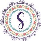 Monogramm-Buchstabe S | Personalisiert | Böhmisches Design von PraiseQuotes