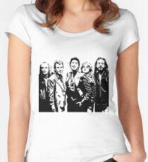 Roxy Musik Tailliertes Rundhals-Shirt