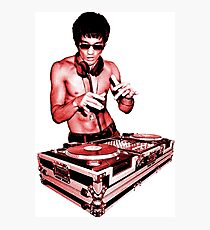 DJ BRUCE LEE (RED STYLE) Photographic Print