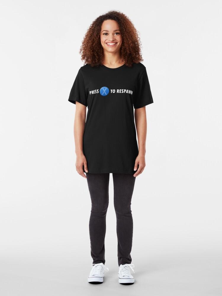 Vista alternativa de Camiseta ajustada Presione X para reaparecer (blanco)