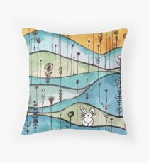 Lonely Bunny Throw Pillow
