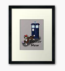 Doctor Mew Framed Print