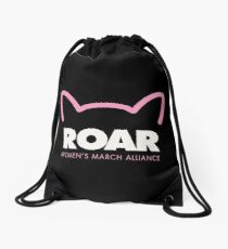 Pink Pussy ROAR - Women's March Alliance Drawstring Bag
