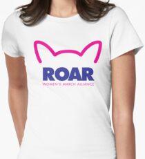 Pussy ROAR - Women's March Alliance Women's Fitted T-Shirt
