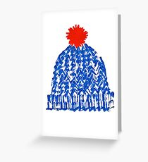 Winter Bobble Hat Greeting Card
