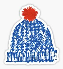 Winter Bobble Hat Sticker