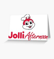 Tagalog greeting cards redbubble jollibee jolli afternoon greeting card m4hsunfo