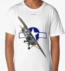 WW2 USAAF Roundel Design-Piper Sentinel 330119 Long T-Shirt