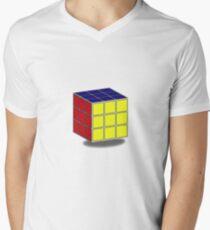 cubo rubik Men's V-Neck T-Shirt