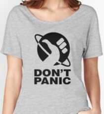 Don't Panic - Hitchhikers Guide Women's Relaxed Fit T-Shirt