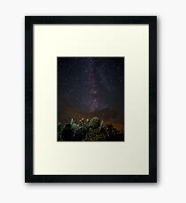 Milky Way Cactus Framed Print