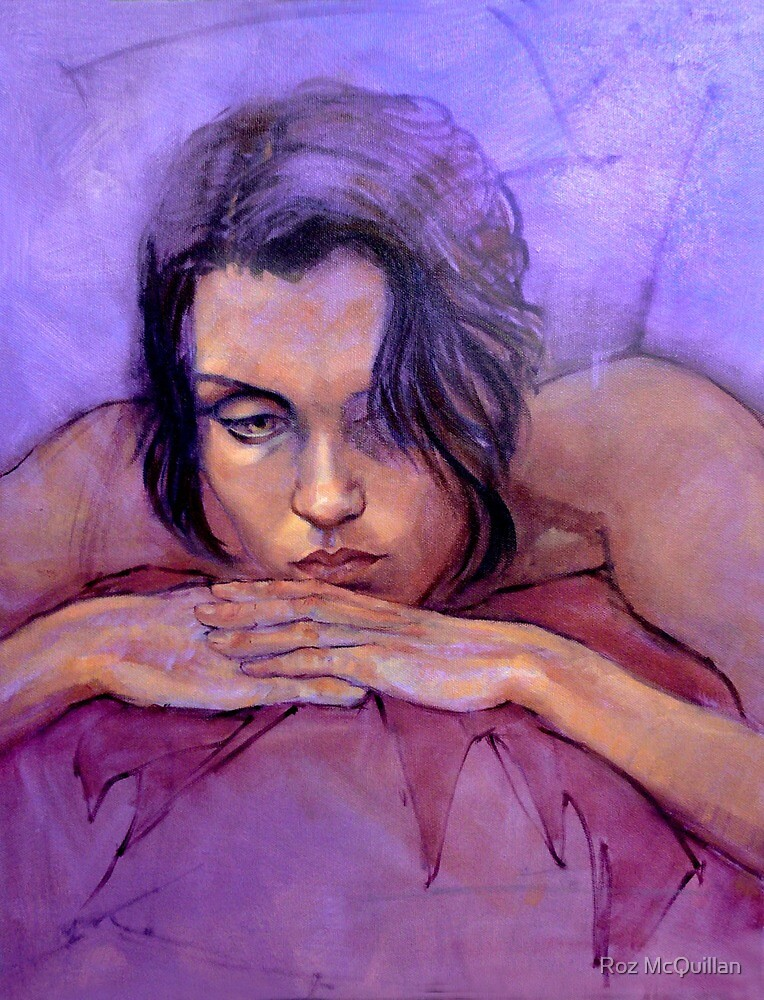 Portrait of Jo, oil painting by Roz McQuillan
