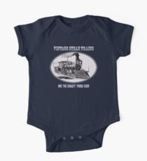 Vintage steam trains are the coolest thing ever - model train fan, trainspotter, One Piece - Short Sleeve