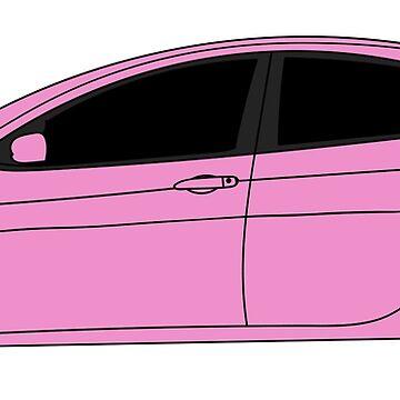 Dodge Dart Pink Sticker by Jessimk