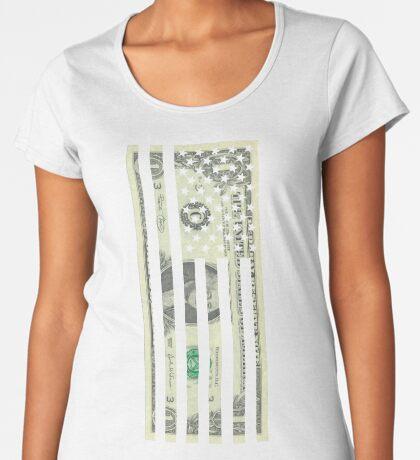 American Dollar Flag Premium Scoop T-Shirt