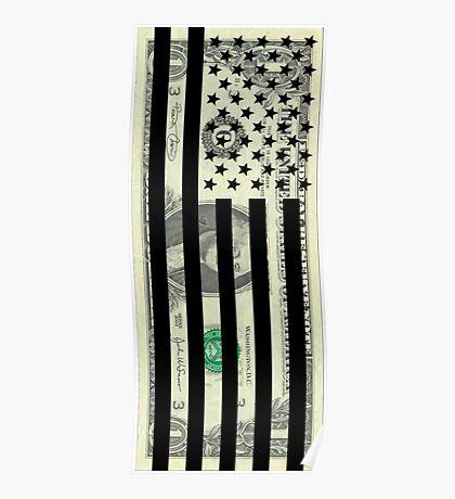 American Dollar Flag Poster