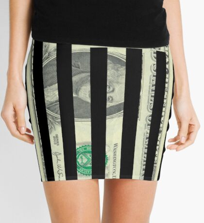American Dollar Flag Mini Skirt