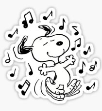 dancing snoopy Sticker