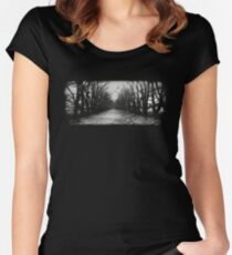 The Shortcut - black Women's Fitted Scoop T-Shirt