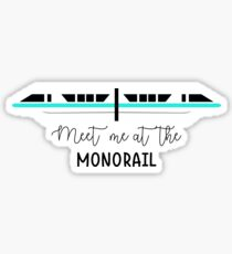 Meet me at the Monorail (teal stripe) Sticker