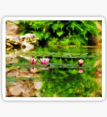 Lotus Blossoms Floating Sticker