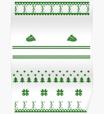 Baking Christmas Sweater Poster