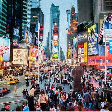 Times Square Tourists (digital painting) by RayW