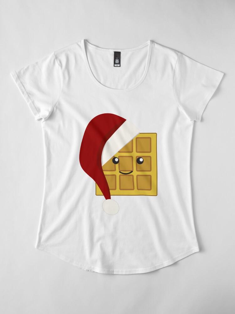 Alternate view of Christmas Waffle Women's Premium T-Shirt