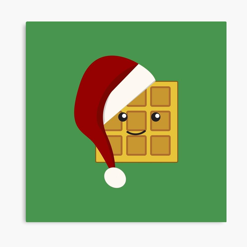 Christmas Waffle Canvas Print