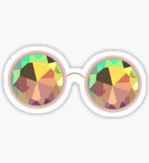 Kaleidoscope Glasses Sticker