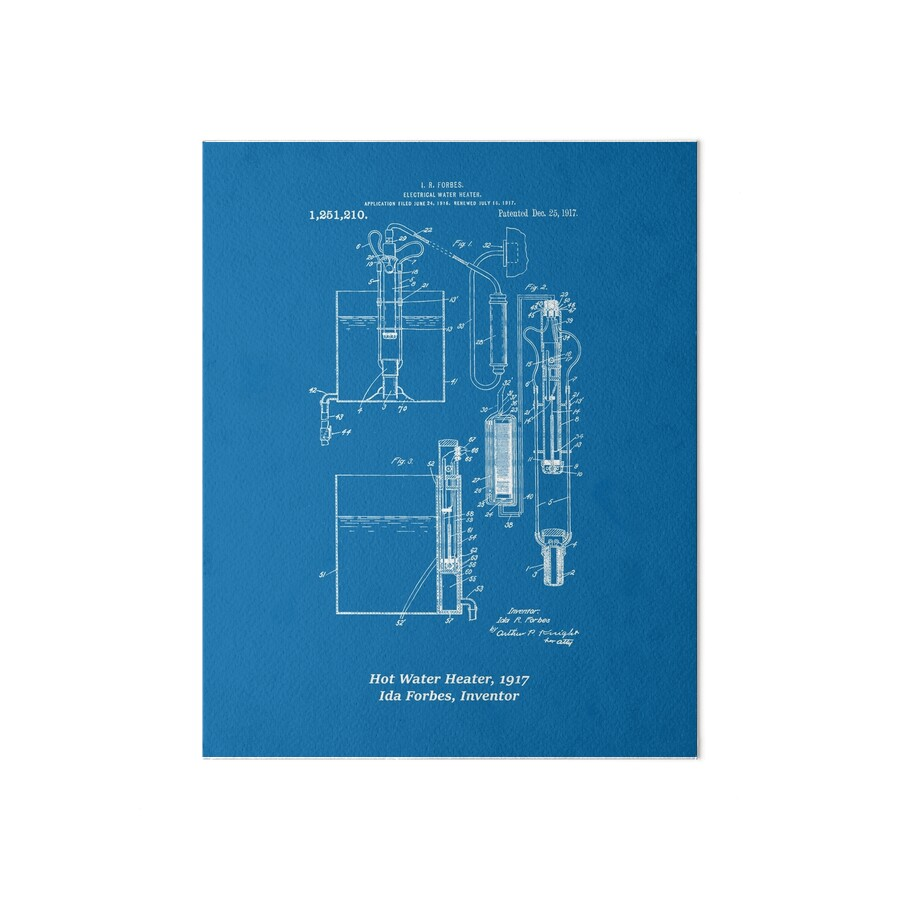 Ida forbes electrical water heater blueprint art boards by ida forbes electrical water heater blueprint by the mighty mitochondria malvernweather Choice Image