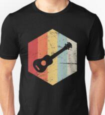 Camiseta unisex Icono de ukelele vintage retro
