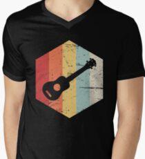 Retro Vintage Ukulele Icon Men's V-Neck T-Shirt