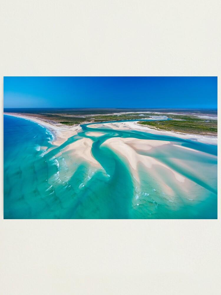 Alternate view of Willie Creek Inlet, Western Australia Photographic Print